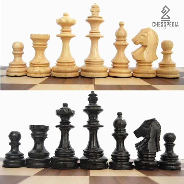 Chesspedia Bidak Catur Kayu Mentaos Model Semeru Standar Percasi