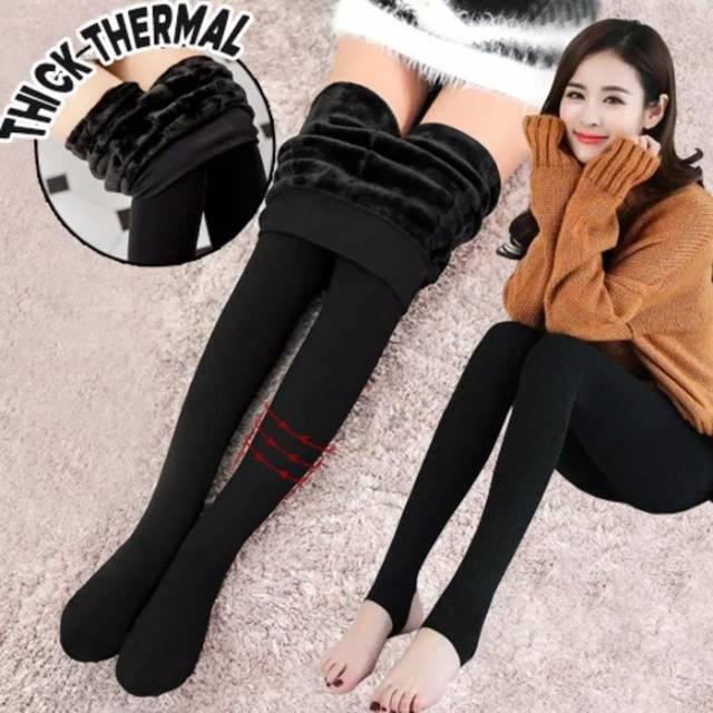 Merino Woll Thermal Legging Celana Legging Tebal Celana Legging Shopee Indonesia