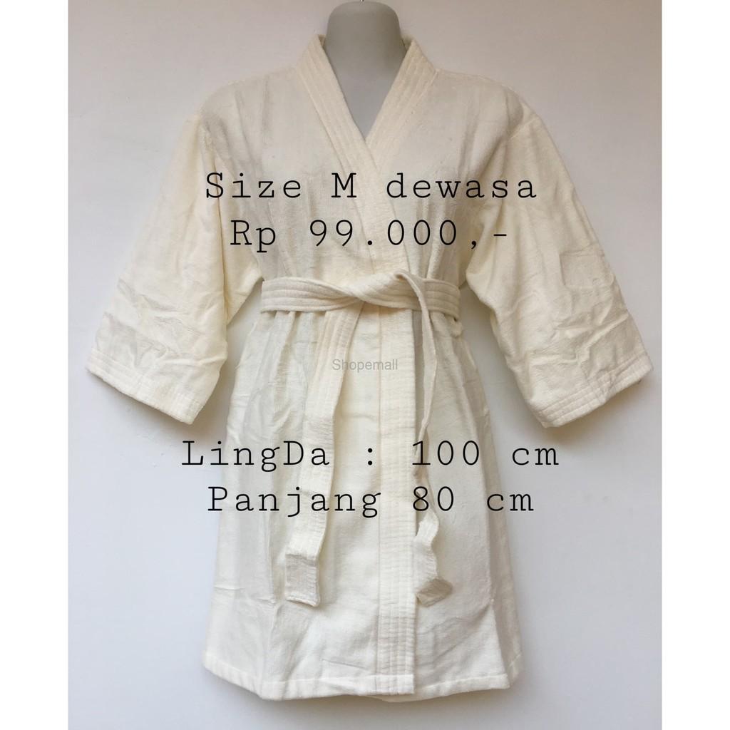 Baju Handuk Kimono Dewasa Shopee Indonesia Mandi Renang Fit To L Xl