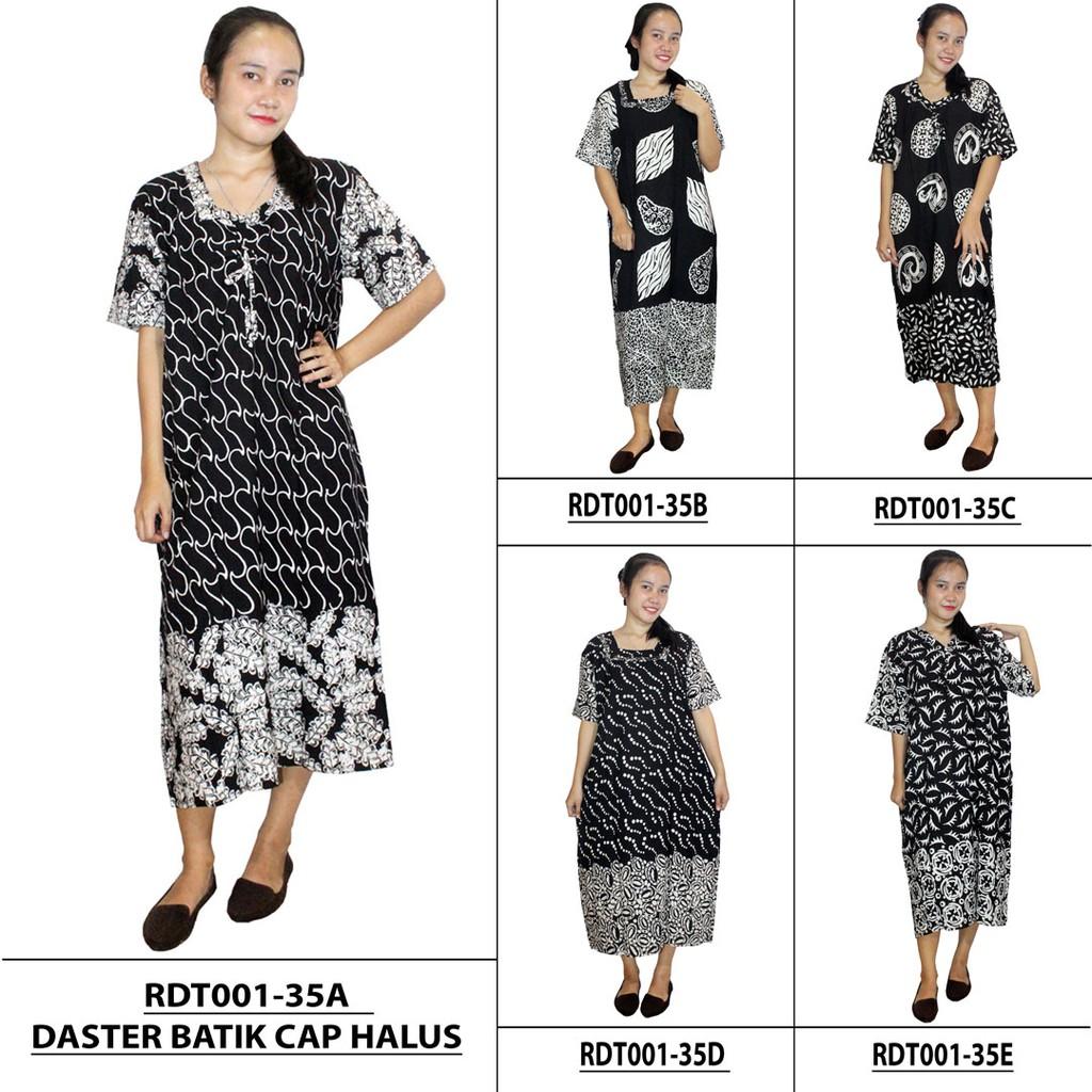 Longdres Batik, Daster Lengan Panjang Batik, Baju Tidur Leher Kerut (LPT001-66) | Shopee Indonesia
