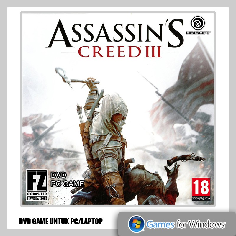 Assassin S Creed Iii Dvd Game Pc Laptop Shopee Indonesia