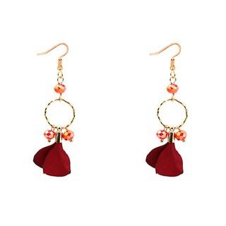 Shopee Aksesoris Fashion Anting Anting Hooks LRC Anting Gantung Elegant Petal Shape Decorated Earrings. suka