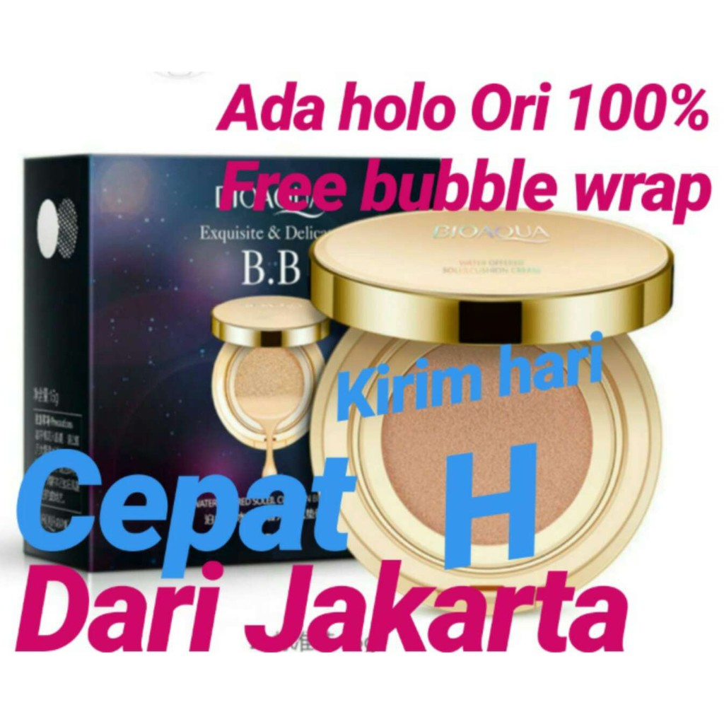 Bioaqua Exquisite And Delicate Bb Cushion Tanpa Refill Shopee Ivory White 02 Black Box Indonesia