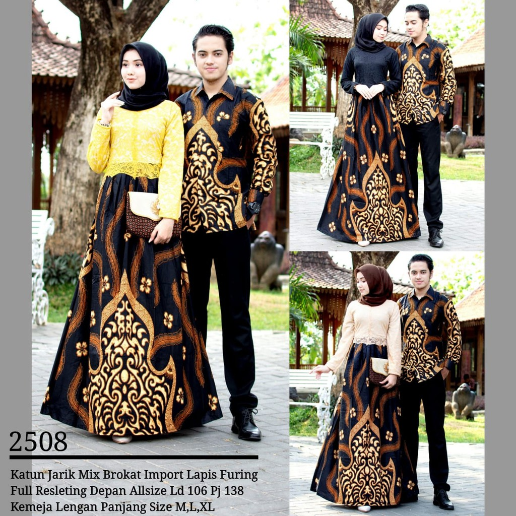Zola Batik Couple Gamis Brokat 2508