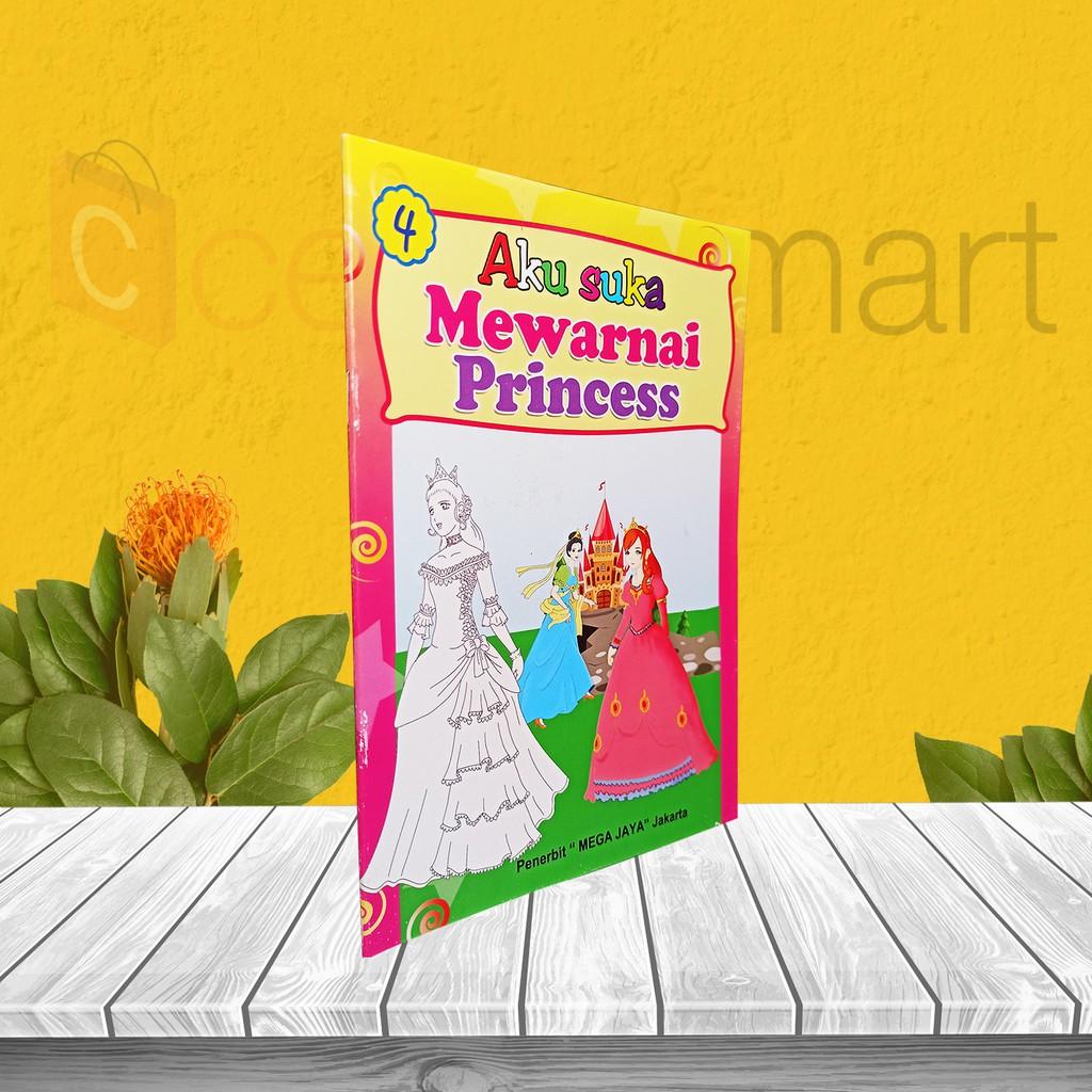 Buku Anak Tk Paud Aku Suka Mewarnai Princess Shopee Indonesia
