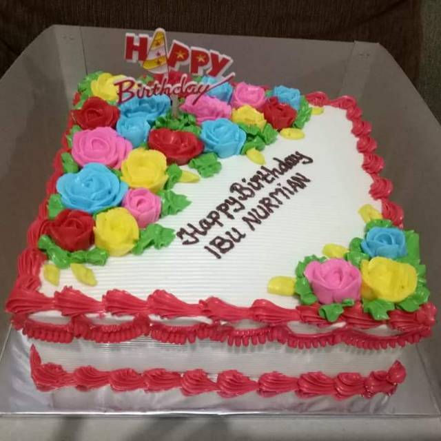 Menu Masakan Kue Ulang Tahun Mawar Sedap Resep Masakan Rumahan
