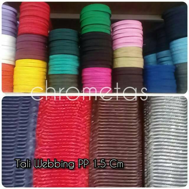 Tali Webbing Bisban Pp Lebar 1 5 Cm Per Roll Shopee Indonesia
