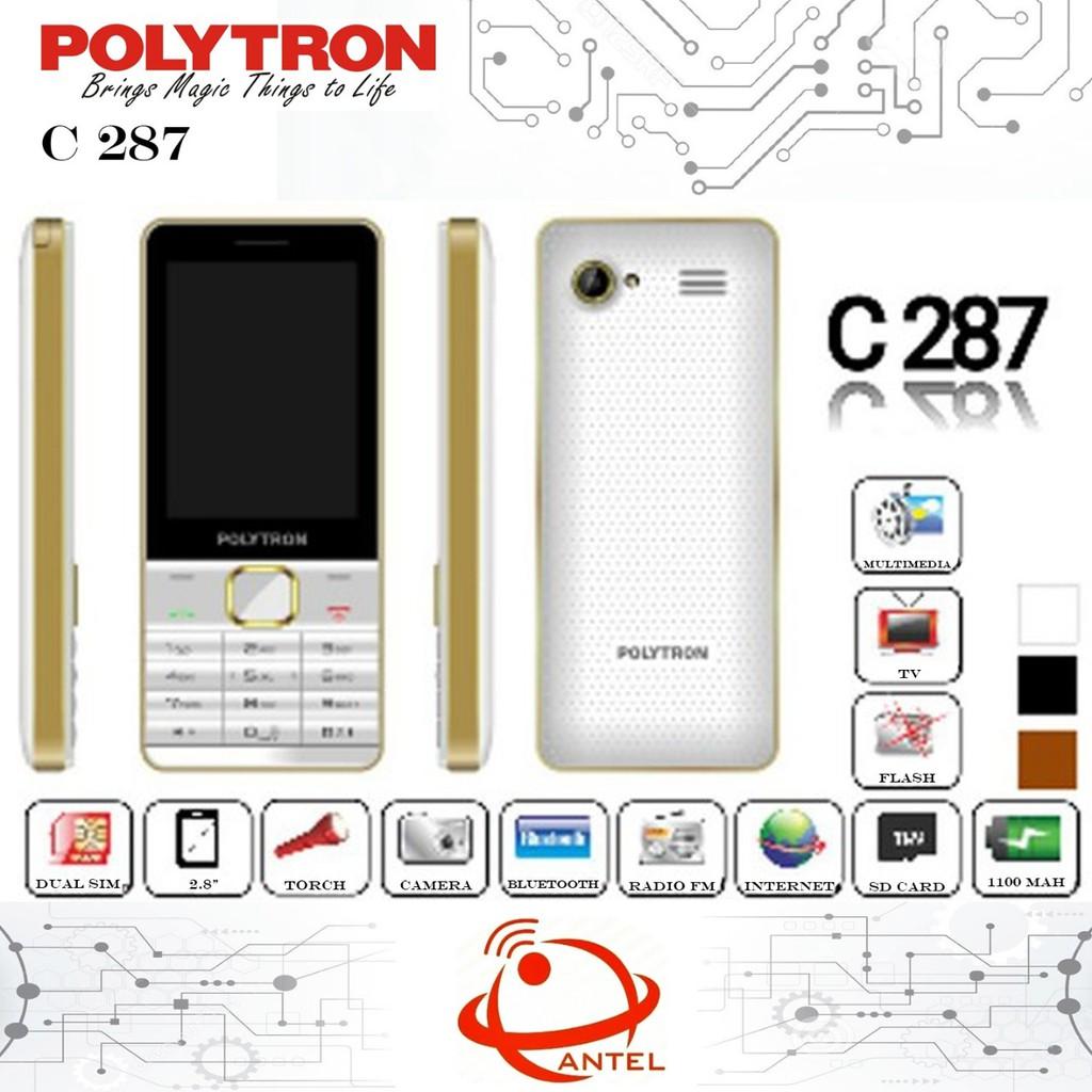 Polytron C287 Analog Tv Dual Sim Shopee Indonesia Candybar C24c With