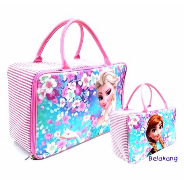 Tas travel bag kanvas hello kitty rainbow / tas koper jinjing renang helo kity | Shopee