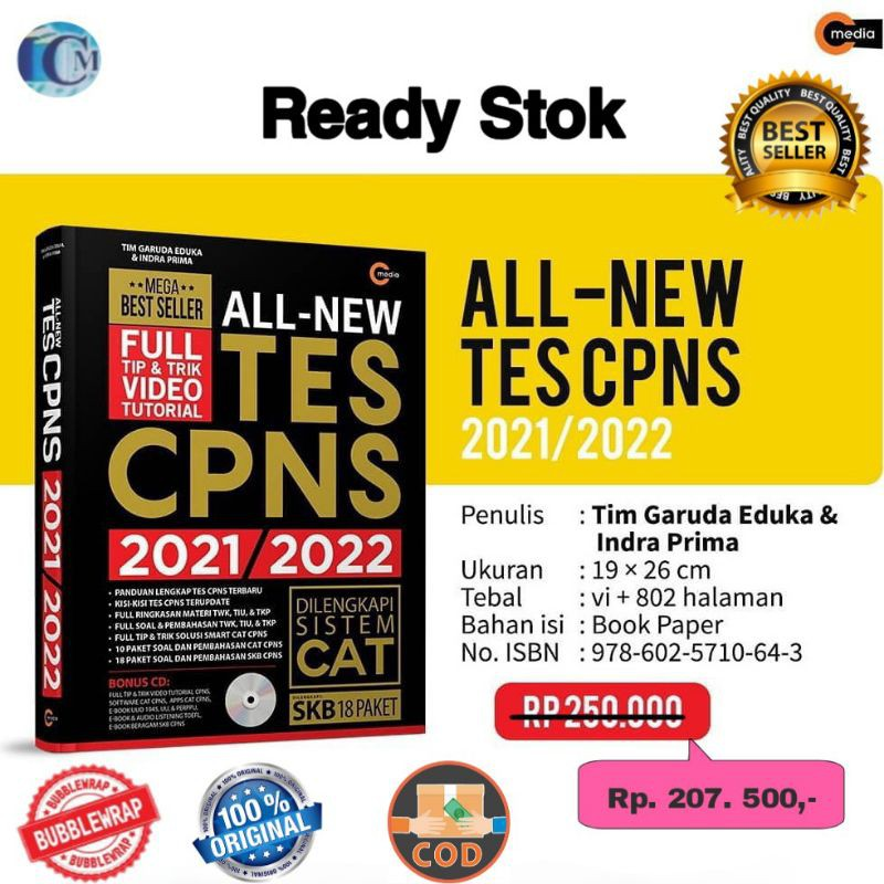 Buku Soal Cpns Terbaru All New Tes Cpns 2021 2022 Shopee Indonesia