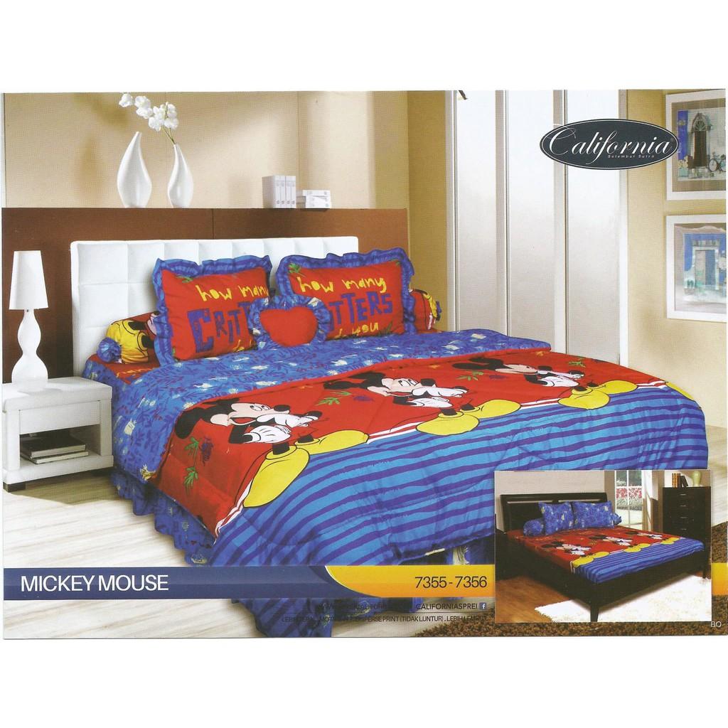 Grosir Sprei Bedcover Set California 180x200 Motif Rosalinda Bed Seprei B2g2 Mirah Cover Shopee Indonesia