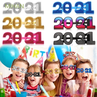 Mihan 1pcs Party Supplies Gift 2021 New Year Happy New Year Xmas Ornaments 2021 Party Eyeglasses Shopee Indonesia