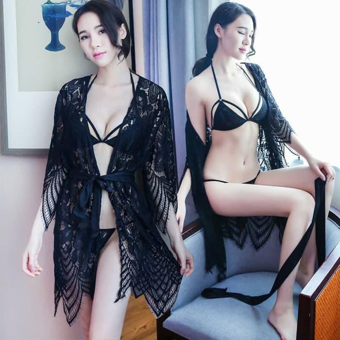 Produk Terlaris Lingerie Seksi Kimono Set Merah Luxury (Rset041) By Amor  Collection Barang Kualitas  3163649a84