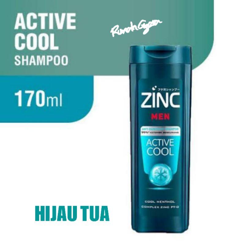 ZINC SHAMPOO  THEATMENT 170 ML KEMASAN BOTOL SEDANG ZINC 170ML 170ML-ZINC MEN AC HIJAUTUA