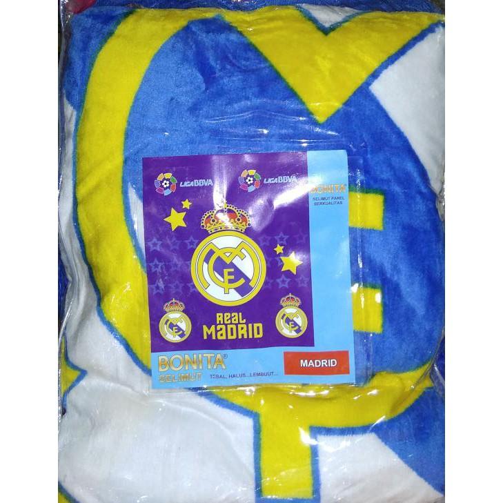 Selimut Bonita 3D Real Madrid Queen 160 No.2 Blanket El Real La Liga |