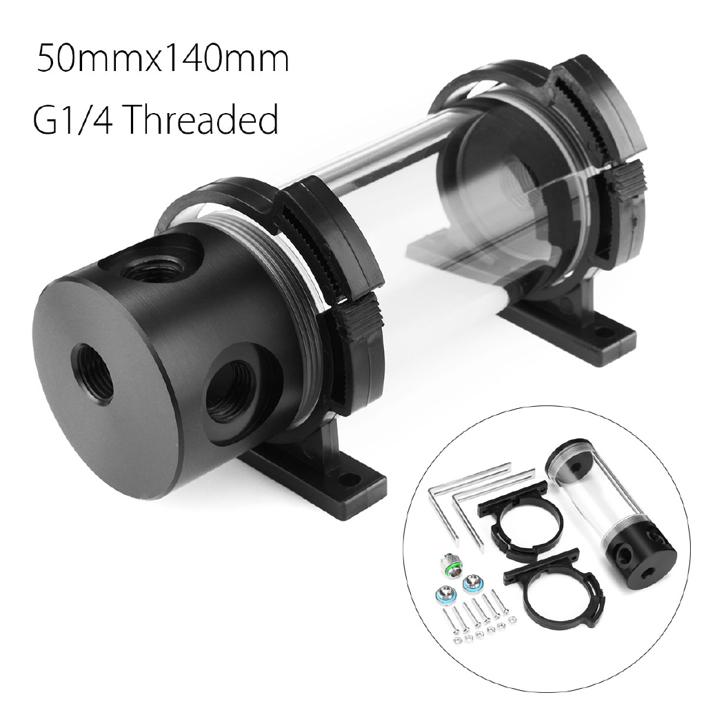 G1//4 500L//H 12V Cylinder Reservoir Water Tank Pump Kit For Water Cooling System
