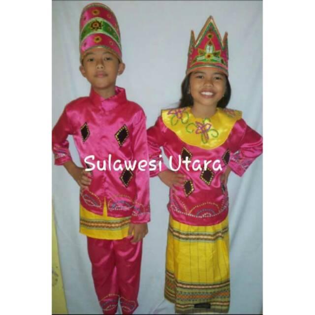 74 Gaya Baju Adat Sulawesi Anak Kekinian