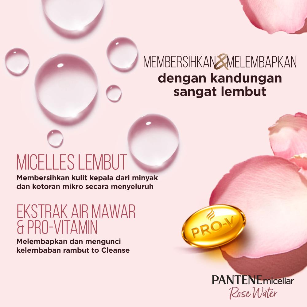 Pantene Micellar Cleanse and Hydrate - Paket Shampoo 300 ml + Conditioner 300 ml-2