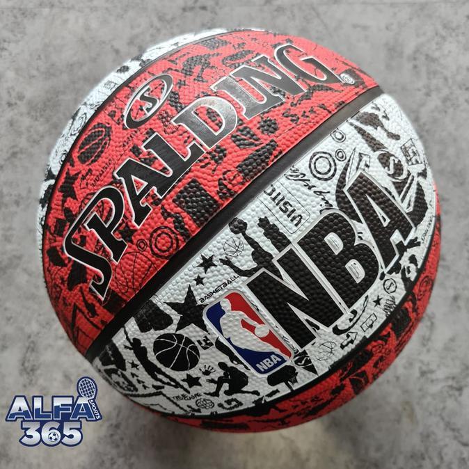 Bess Seller bola basket outdoor>> Bola Basket Spalding NBA Graffiti - Official Rubber Outdoor