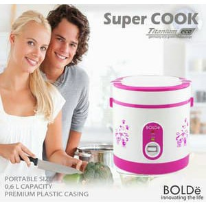 Super COOK Rice CooKeR MiNi 3 In 1 Bolde 0.6L - Original - Free Bubble - kedainusantara