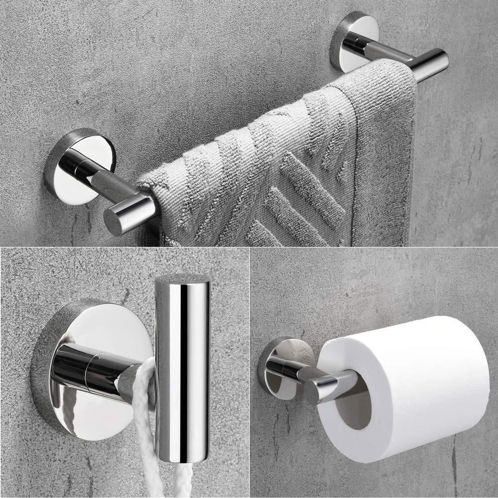 Towel Bar Set Chrome Polish Modern Bathroom Accessories Set Silver Hardware 4 Pcs Bath Towel Shopee Indonesia