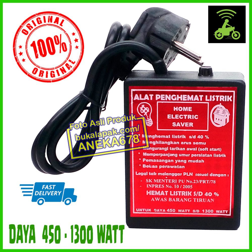 ALAT PENGHEMAT LISTRIK HOME ELECTRIC SAVER ORIGINAL 450 - 1300 WATT | Shopee Indonesia