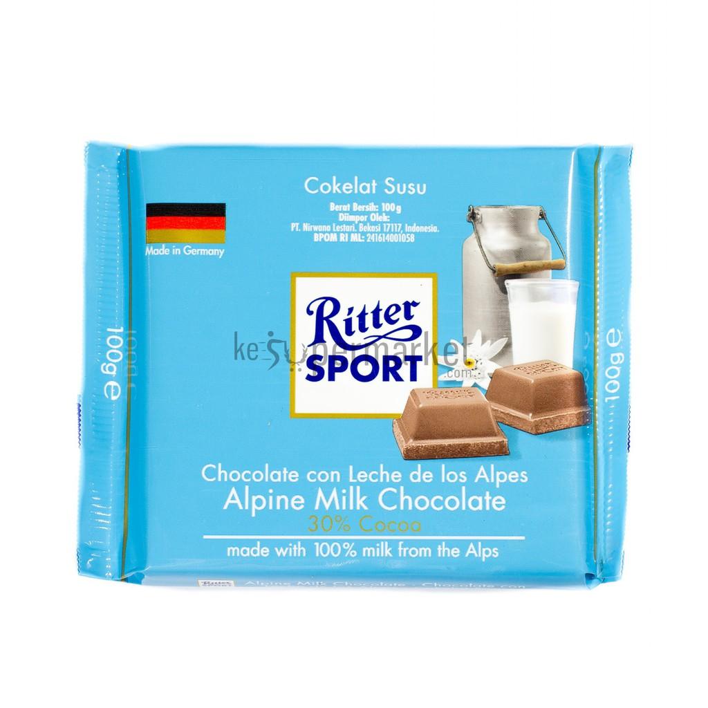 Ritter Sport Alpine Milk Chocolate 100gr Shopee Indonesia