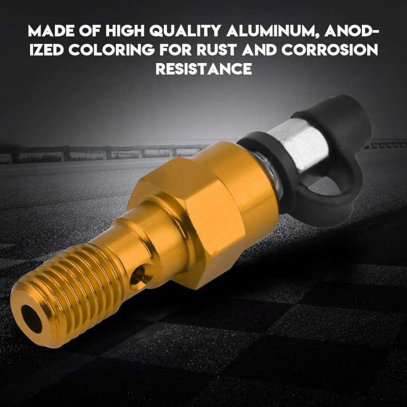 M10x1.25mm 53mm Brake Caliper Bleed Screw Nipple Banjo Bolt Universal for Motor