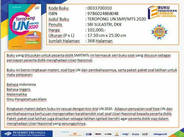 Teropong Un Smp Mts 2020 Kunci Jawaban Shopee Indonesia