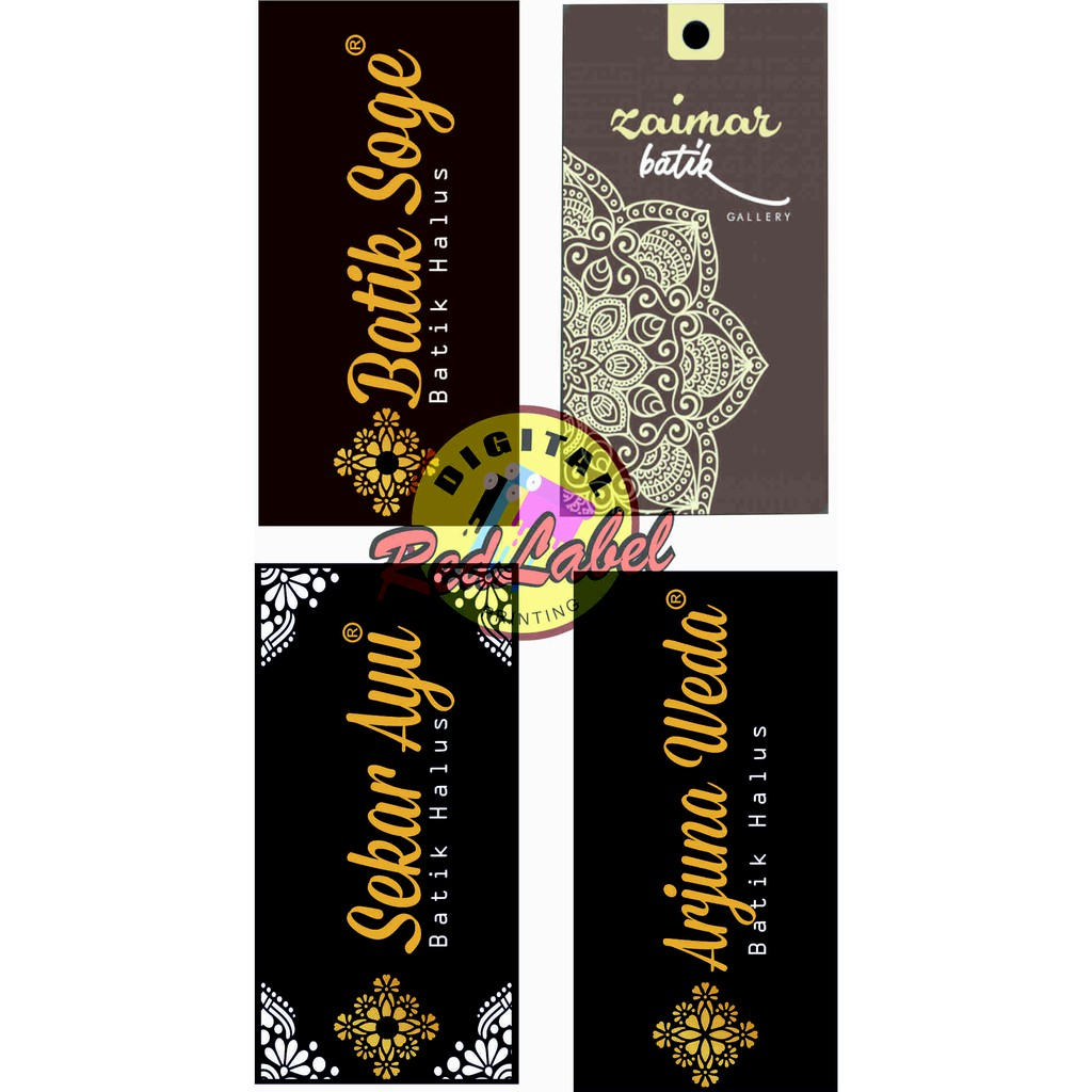Cetak HANG TAG 11pcs GRATIS DESAIN / Hangtag / Label Baju Kertas Murah
