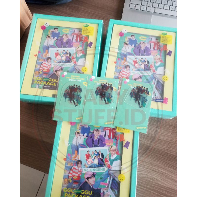 READY STOCK SHARING ENHYPEN GGU GGU PACKAGE PC RANDOM OUTBOX NOTES SET PHOTOCARD JUNGWON JAY HEESUNG