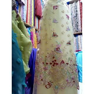 Kaon Tulle Payet 3d Kombinasi Warna Kain Tile Gaun Pernikahan Gaun Pesta Kebaya Modern