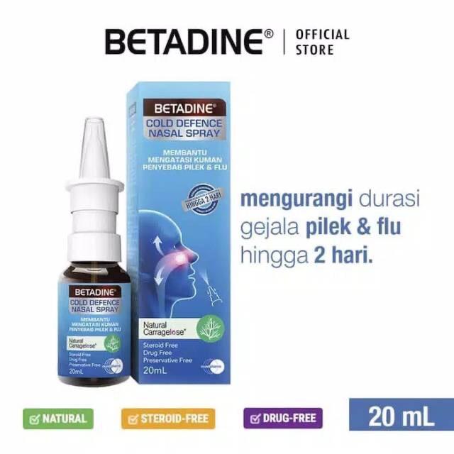 Betadine Cold Defence Nasal Spray Adult Kids Mengurangi Wabah Corona Perlindungan Kuman Shopee Indonesia