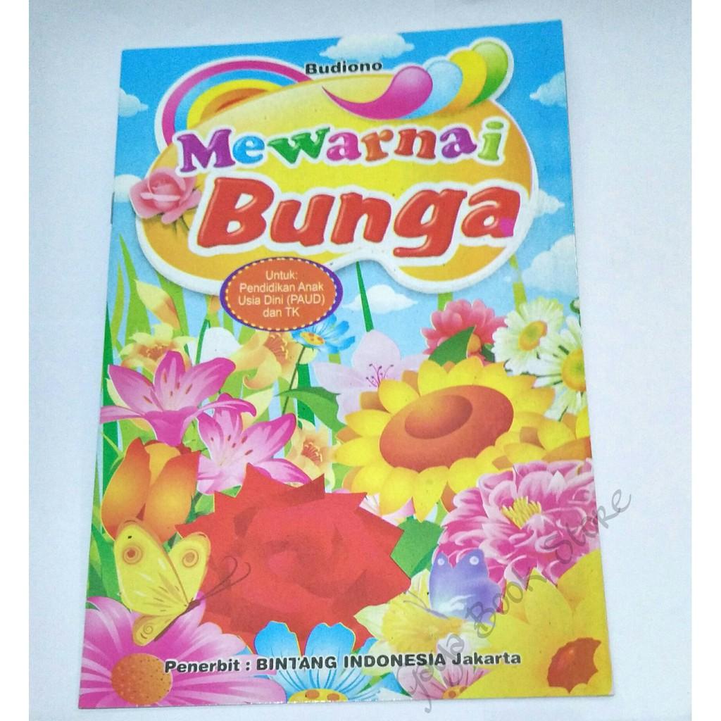 Buku Mewarnai Mewarnai Bunga