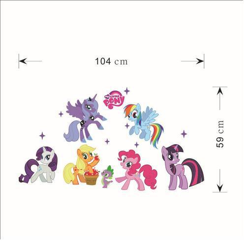 Stiker Dinding Dengan Bahan Pvc Mudah Dilepas Dan Gambar My Little Pony Untuk Dekorasi Rumah Jk Shopee Indonesia