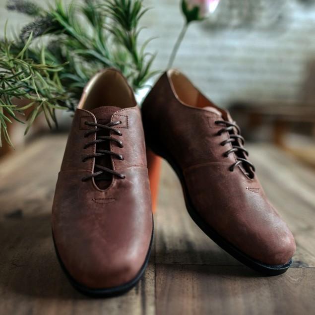 Arman Brown Forind X Zapato Sepatu Kulit Asli Vintage Klasik Pria Cowok Men Derby Footwear Shopee Indonesia