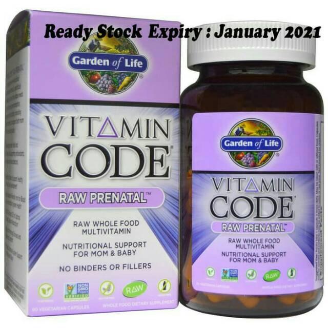 Garden Of Life Vitamin Code Raw Prenatal Multivitamin Whole Food Shopee Indonesia
