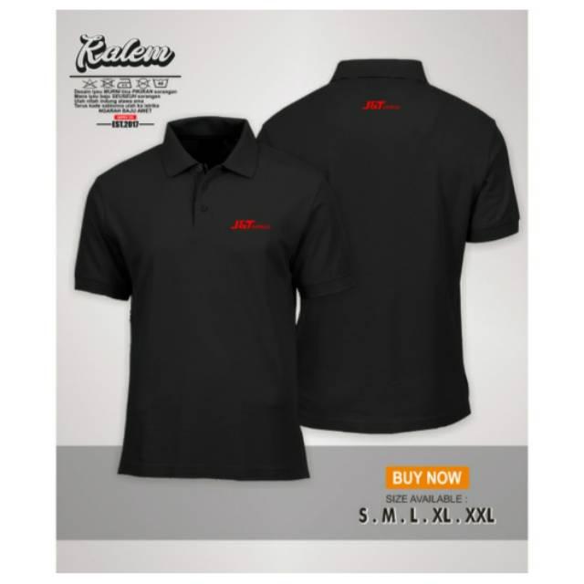 Kaos Baju Polo Shirt Logo Jnt Ekspres Depan Belakang Distro Pakaian Premium Shopee Indonesia
