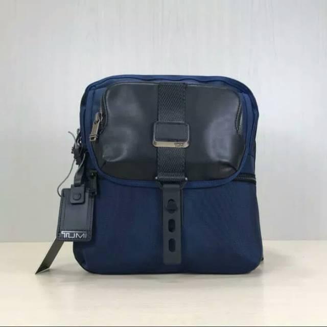 tumi alpha bravo arnold blue / tas selempang pria /tas import murah