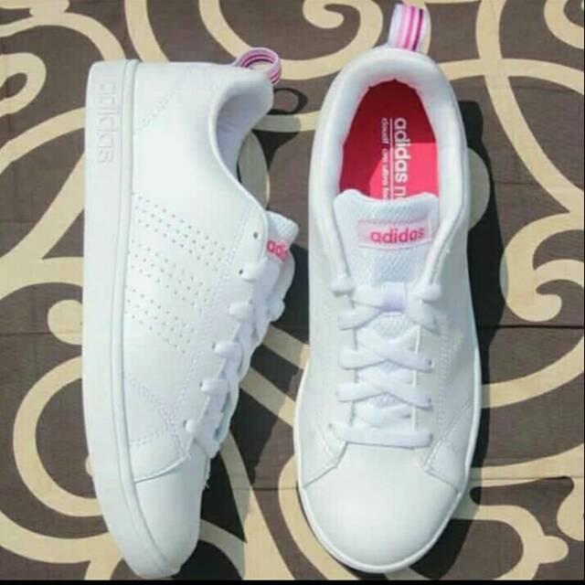 Sepatu Adidas Neo Advantage Wanita Putih Last Ping Original