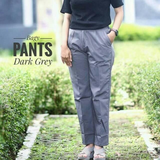 935c6ff4a958f9 BAGGY PANTS GREY   Shopee Indonesia