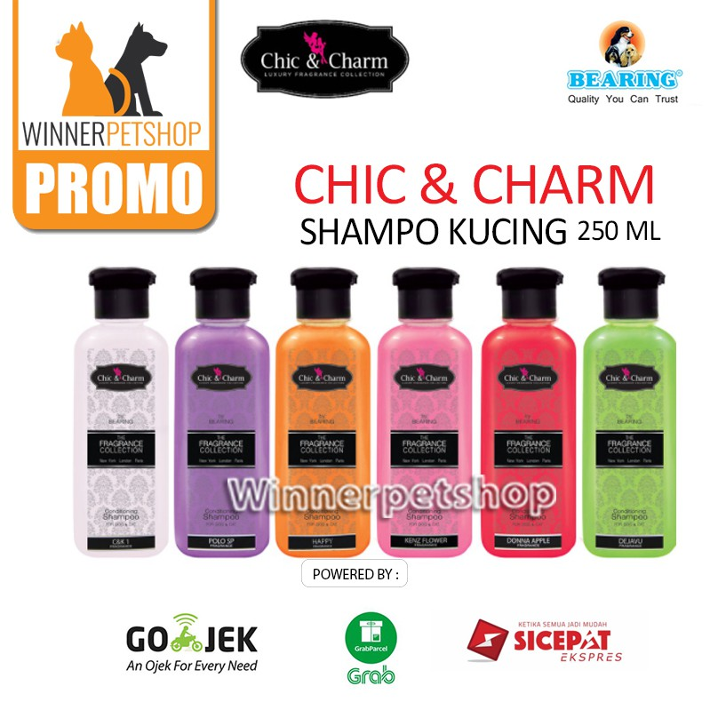BEARING FRAGNANCE SHAMPOO - CHIC & CHARM - SHAMPO KUCING SHAMPO ANJING