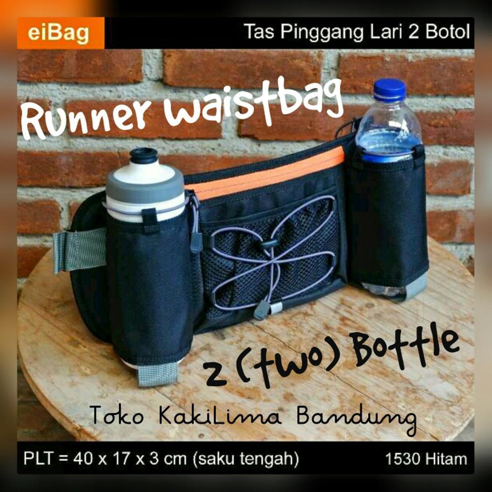 best service 08e67 f17c0 Tas Pinggang Lari 2 Botol 1530 Hitam Eibag   Shopee Indonesia