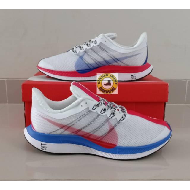 Residencia interior máximo  Nike Zoom Pegasus 35 Turbo Shanghai Rebels White Blue Red   Shopee Indonesia