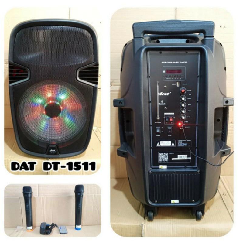 Speaker Portable DAT DT 1511 15 INCH