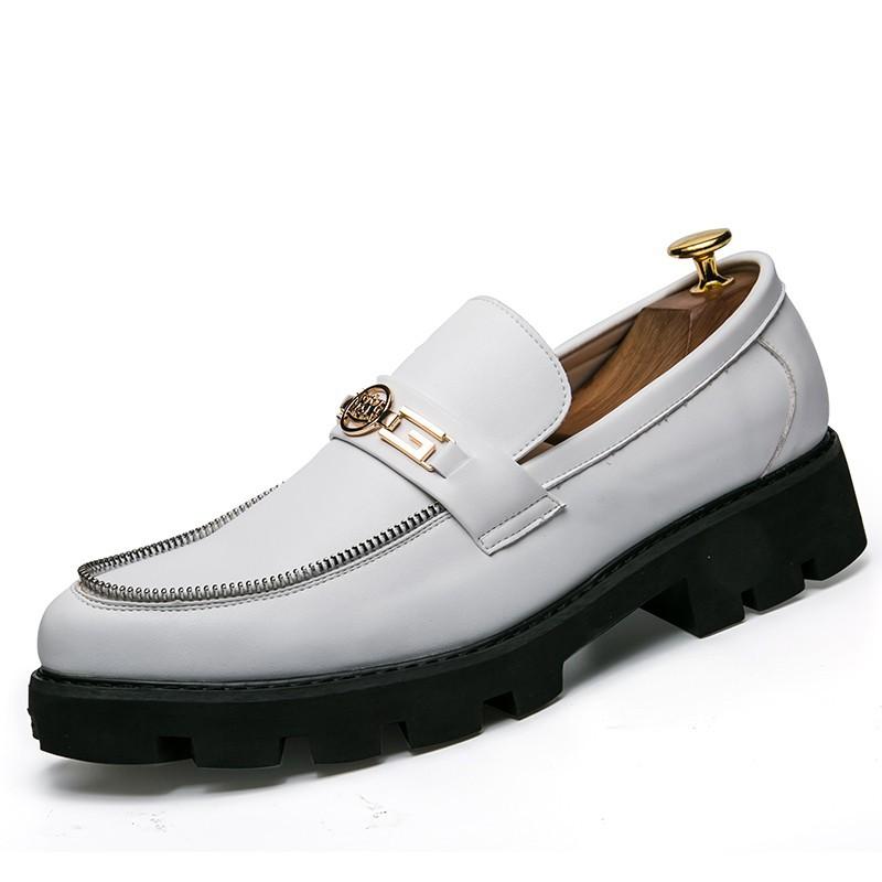 Sepatu Bisnis Model Slip On Warna Putih