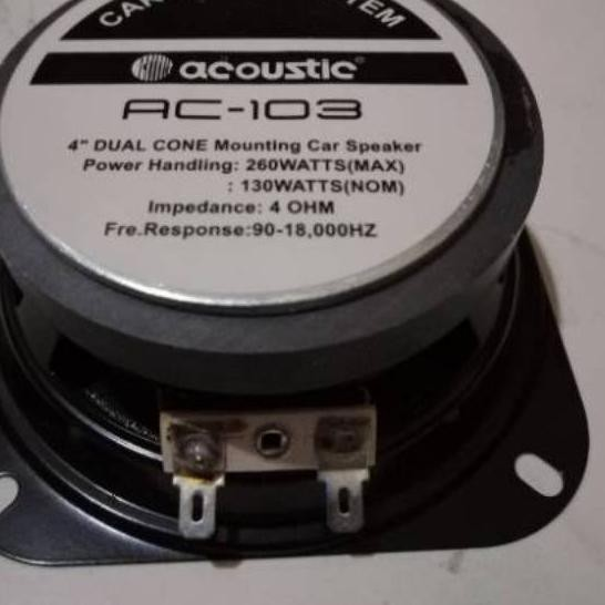 """Bagus Speaker woofer 4inch 4in acoustic / speaker mobil acoustic 4"""" 260watt... ..."""