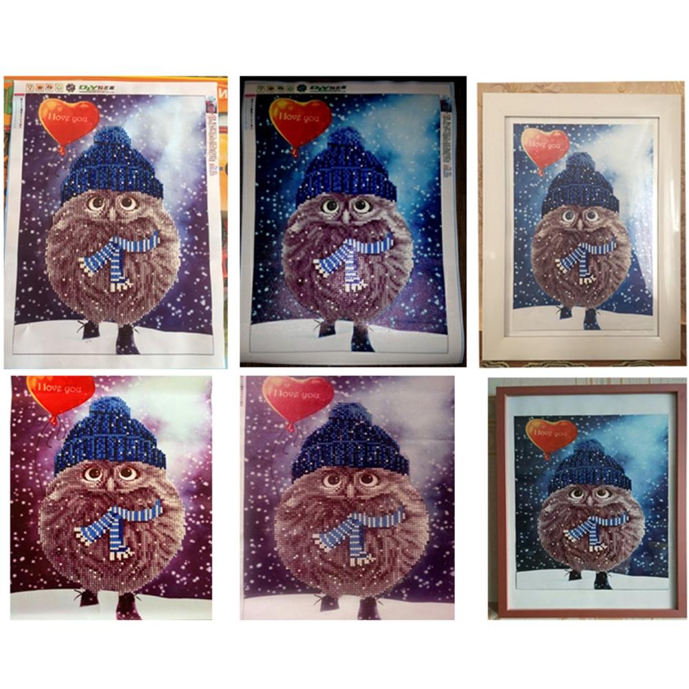 Diy Lukisan Diamond 5d Dengan Gambar Mozaik Burung Hantu Dan