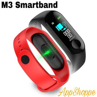 M3 Smart band Waterproof IP67 Smart Watch with Blood Pressure Heartbeat  Monitor for Fitness