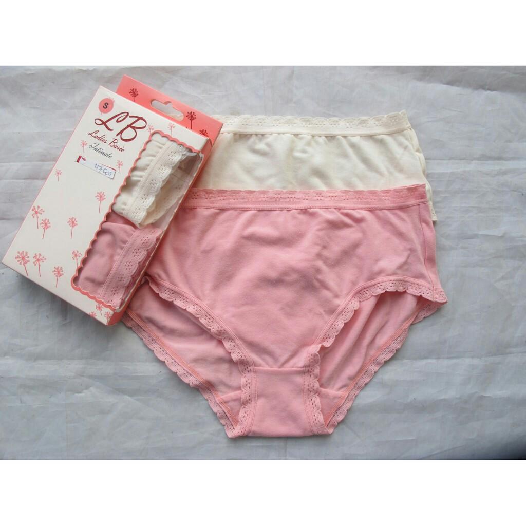 Celana Dalam Cd Wanita Katun Lokal Best Seller Murah Dan Branded Lb G String Tali Seamless Bahan Polyester Ladies Basic 2in1 Shopee Indonesia